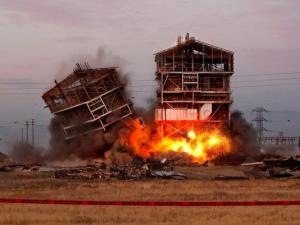 Kern Power Plant being demolished