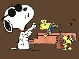 Snoopy singing