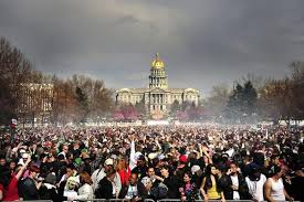 Pot celebration in Denver
