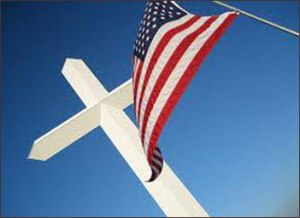 cross-american-flag