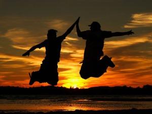 high_five_sunset